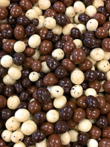 SweetGourmet Chocolate Covered Espresso Beans Blend | White Milk Dark Chocolate | 2 Pounds