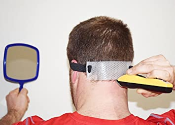 Amazon jaorganics haircut neck guide template and mirror for jaorganics haircut neck guide template and mirror for shaving and keeping a clean and curved solutioingenieria Images