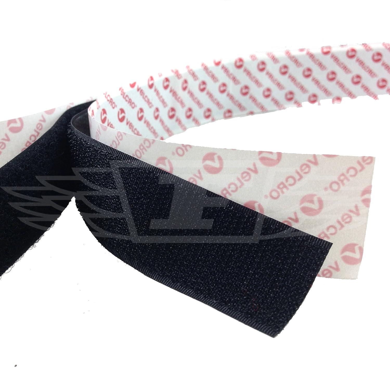 de/1/m x 25/mm Tira de velcro autoadhesiva PS14 de la marca Velcro/® color negro