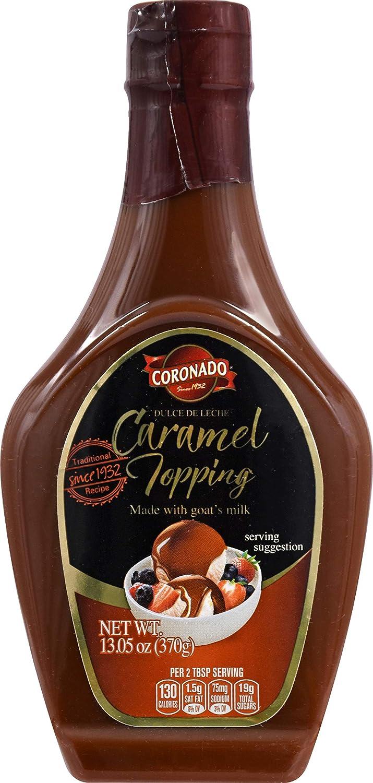 Amazon.com : CORONADO Dulce de Leche Caramel Topping - Sweet Cajeta Sauce/Spread with Real Goat Milk - Squeezable Bottle, 23.3oz (Cinnamon) : Grocery ...