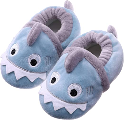 Toddler Baby Boys Girls Cute Cartoon Warm Slippers Shoes Soft Anti-Slip Winter