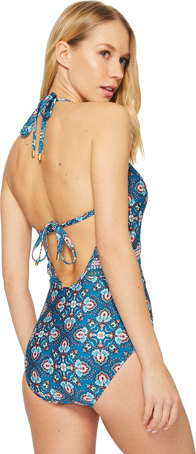 Laundry by Shelli Segal Womens Butterfly Twin Cut Out One Piece Swimsuit