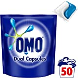 Omo Laundry Liquid Dual Capsules Front & Top Loader Active 50 pack