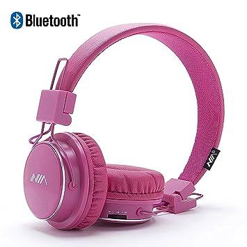 Auriculares Bluetooth Sobre Orejas, para Niños con Limitación de Volumen, Auriculares Plegables, Ligeros