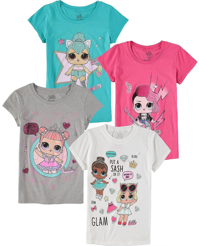 L.O.L. Surprise! Girls' Short-Sleeve T-Shirt 4-Pack