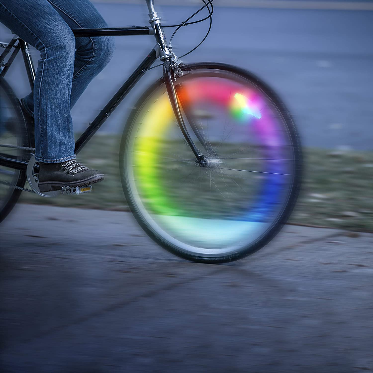 Disc-O Select Choose Your Color LED Nite Ize Spokelit Rechargeable Bicycle Spoke Light Visibility Safety Bike Light Single Pack