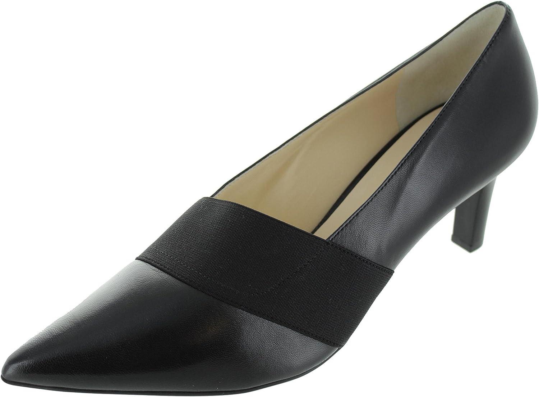 Högl - Zapatillas de Estar por casa de Piel Lisa para Mujer Negro Negro 35 EU Negro