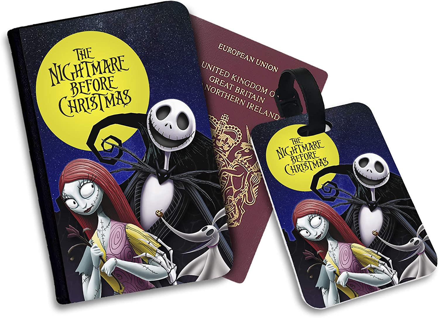 The Nightmare Before Christmas Faux Leather Luggage Tag