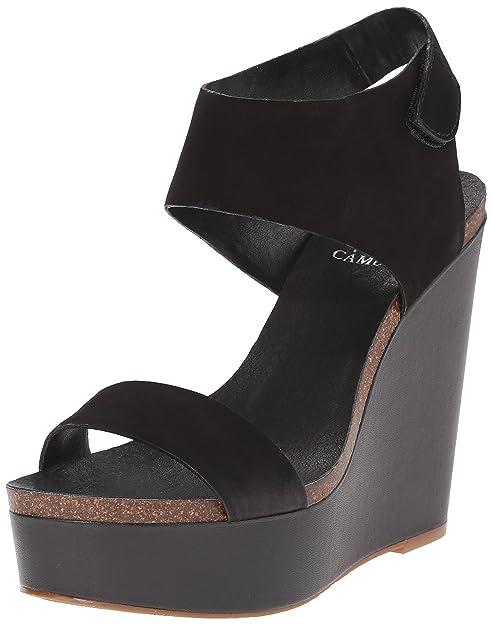 b315e26bb00 Vince Camuto Women's Kaja Wedge Sandal, Black, 10 M US: Amazon.ca ...