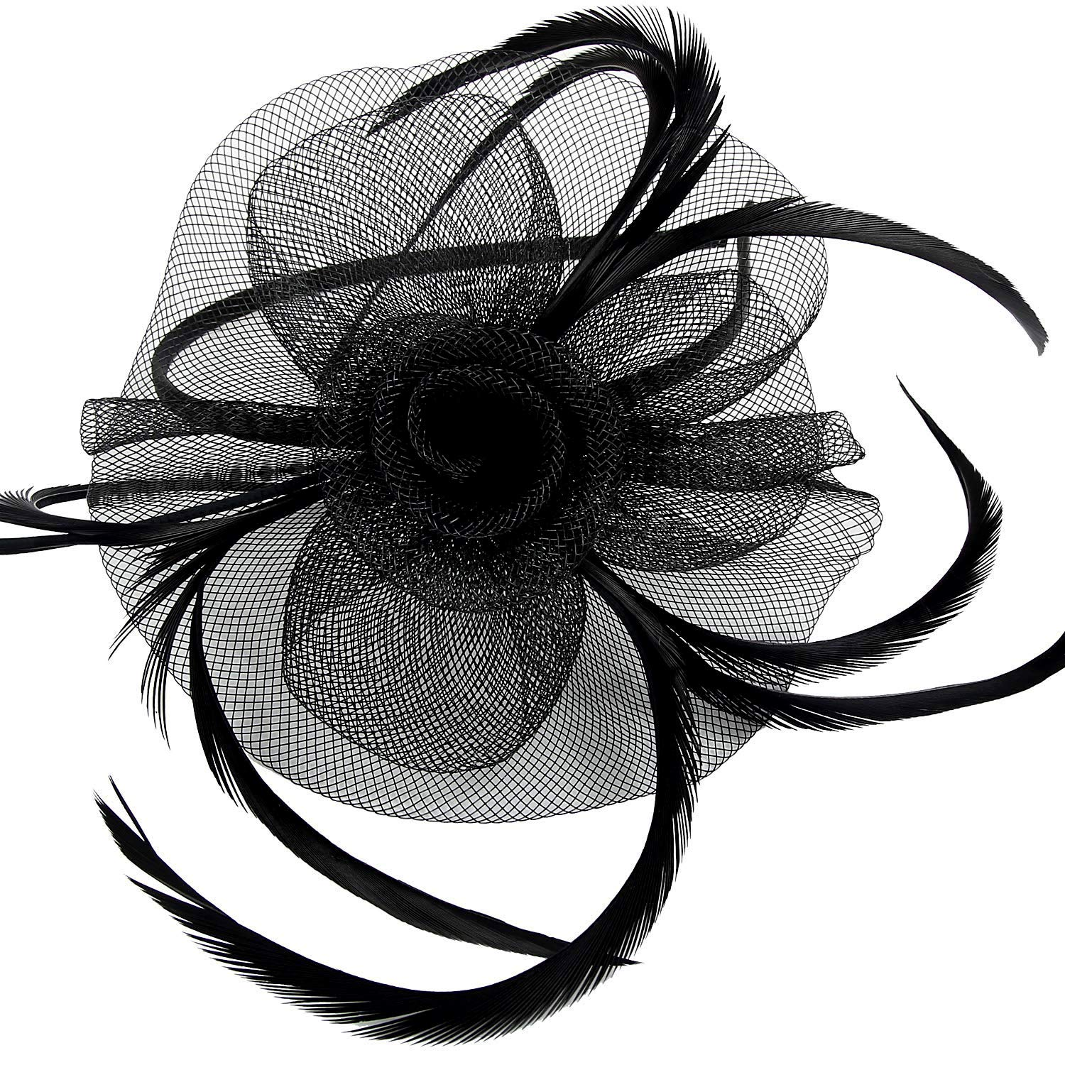 Small Elegant Flower Clip On Fascinator Hat Wedding,Ladies Day,Race Royal Ascot