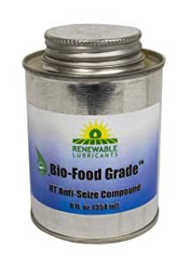 Renewable Lubricants Bio-Food Grade HT NLGI 1 Anti-Seize Compound, 8 oz Can