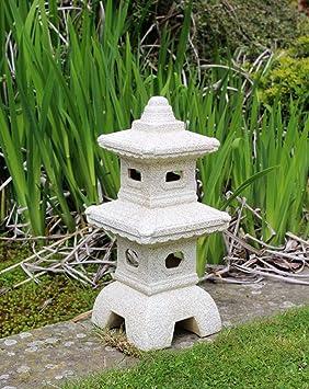 HOME HUT Maison Refuge de pagode Jardin Chinois, Japonais Ornement  Sculpture Lanterne Décoration en Céramique