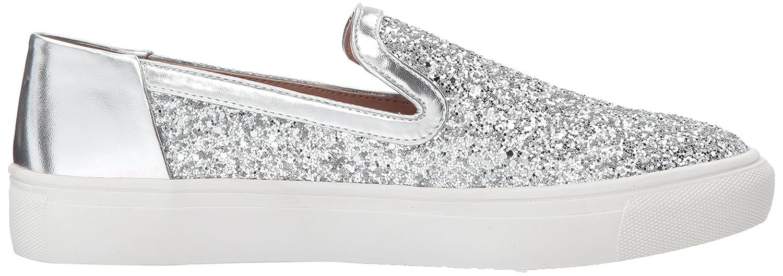 STEVEN by Steve Madden Women's Kenner Fashion Sneaker B073H5XGH1 5 B(M) US|Silver Glitter