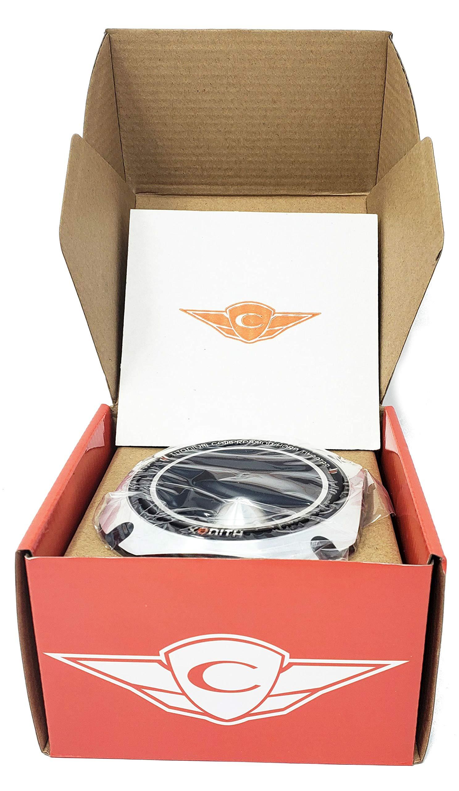 Cadence XT20 300 Watt 2-Inch 8 Ohm Titanium Super Bullet Horn Tweeter 1 Pair