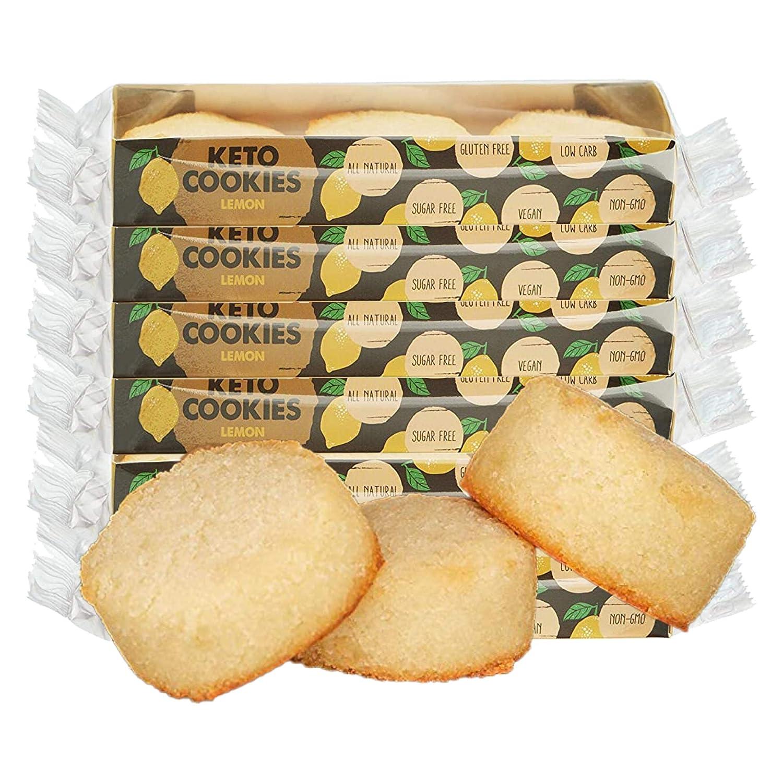 Eve's Bakery Keto Cookies - Low Carb, No Sugar Vegan Treats for a Healthy Diet, Diabetic Snack Food - 1.8 Oz, 6 packs, Lemon