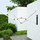 brabantia wallfix retractable washing line with fabric. Black Bedroom Furniture Sets. Home Design Ideas