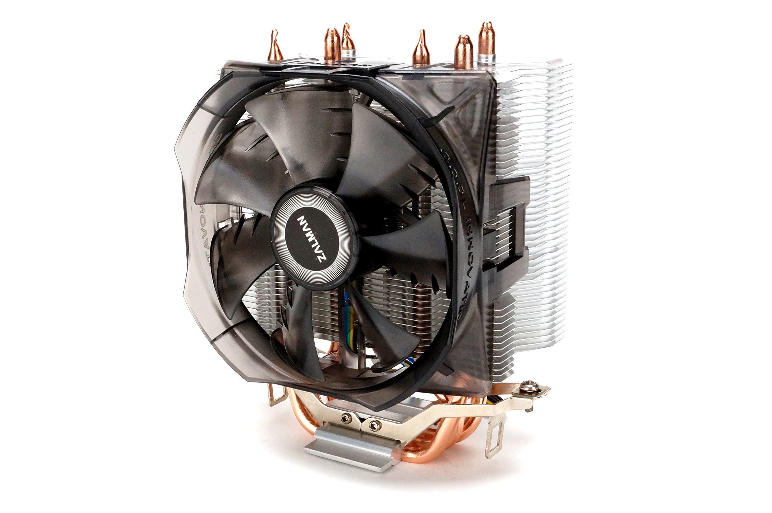 Zalman CPU Cooler with Direct Tough Heatpipe Base and Shark Fin Fan Cooling, Silver, (CNPS8X Optima) by Zalman (Image #1)