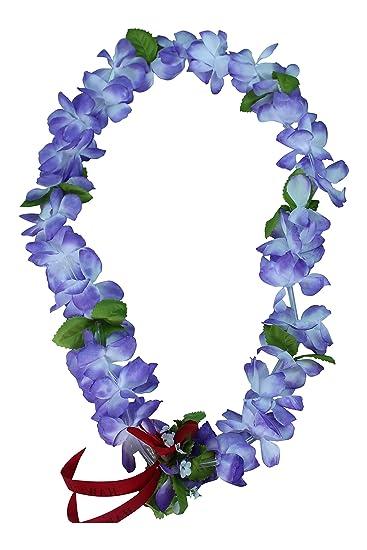 8fe91e29b3b0 Amazon.com: Hawaii Luau Party Artificial Fabric Princess Plumeria Lei in:  Clothing