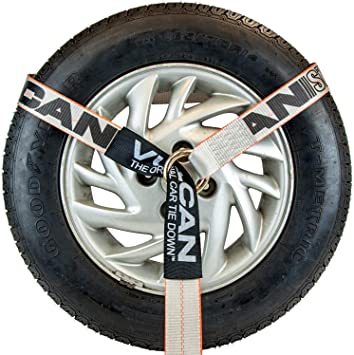 96 SWL 3300 lbs Vulcan Silver Series Lasso Style Wheel Dolly Tire Harness with Universal O-Ring