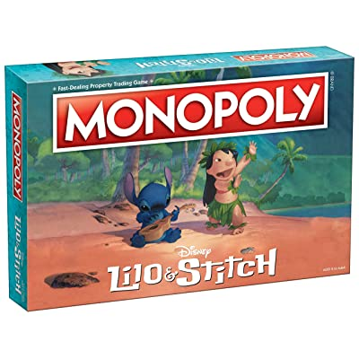 Monopoly Disney Lilo & Stitch Board Game | Based on Disney's Lilo and Stitch Animated Movie | Collectible Monopoly Board Game: Toys & Games