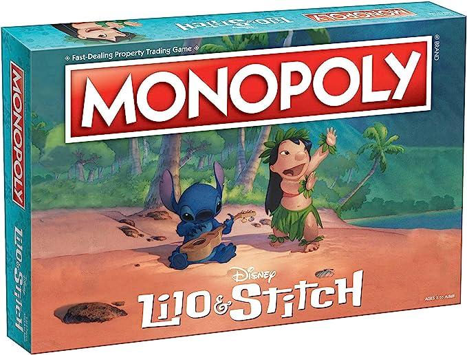 Monopoly Disney Lilo & Stitch Juego de Mesa | Basado en la película Animada de Disney Lilo y Stitch | Juego de Mesa Coleccionable Monopoly: Amazon.es: Juguetes y juegos