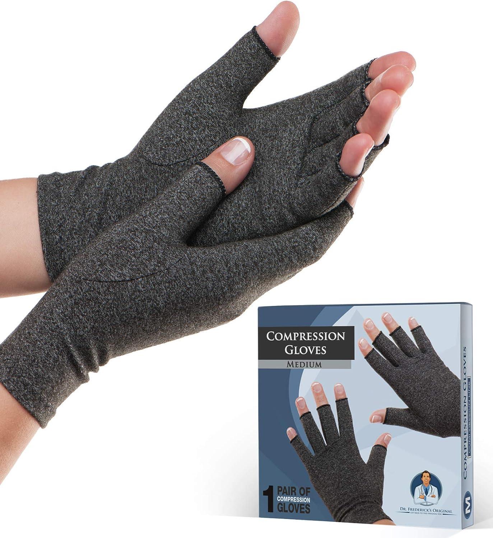 Dr. Frederick's Original Arthritis Gloves for Women & Men - Compression for Arthritis Pain Relief - Rheumatoid & Osteoarthritis - Medium: Health & Personal Care