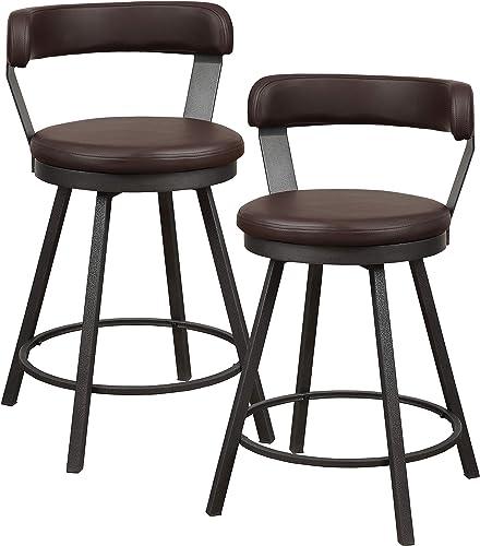 Homelegance Appert Swivel Counter Height Chair Set of 2