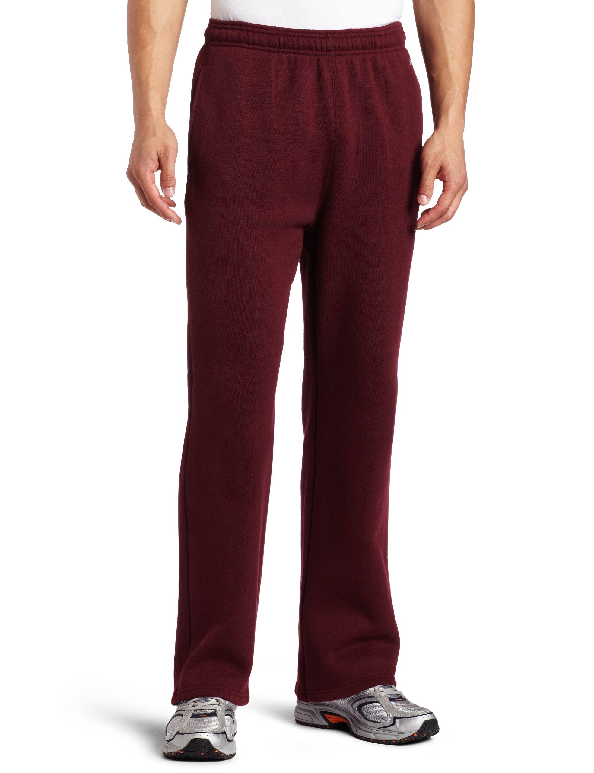 Soffe MJ Men's Training Fleece Pocket Pant, Maroon Small