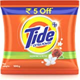 Tide Plus Detergent Washing Powder with Extra Power Jasmine and Rose Pack - 500 g
