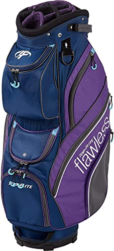 Top Flite Womens Flawless Golf Cart Bag Navy Purple