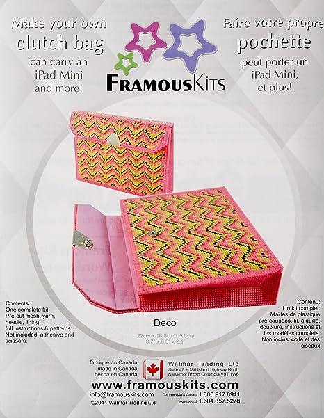 Kits de Framous Art Deco Embrague Framous Lienzo de plástico Kit, 6,5 x