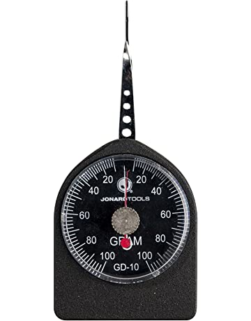 Jonard GD-10 Flat Tip Small Force Gauge, 10-100 grams, Dial