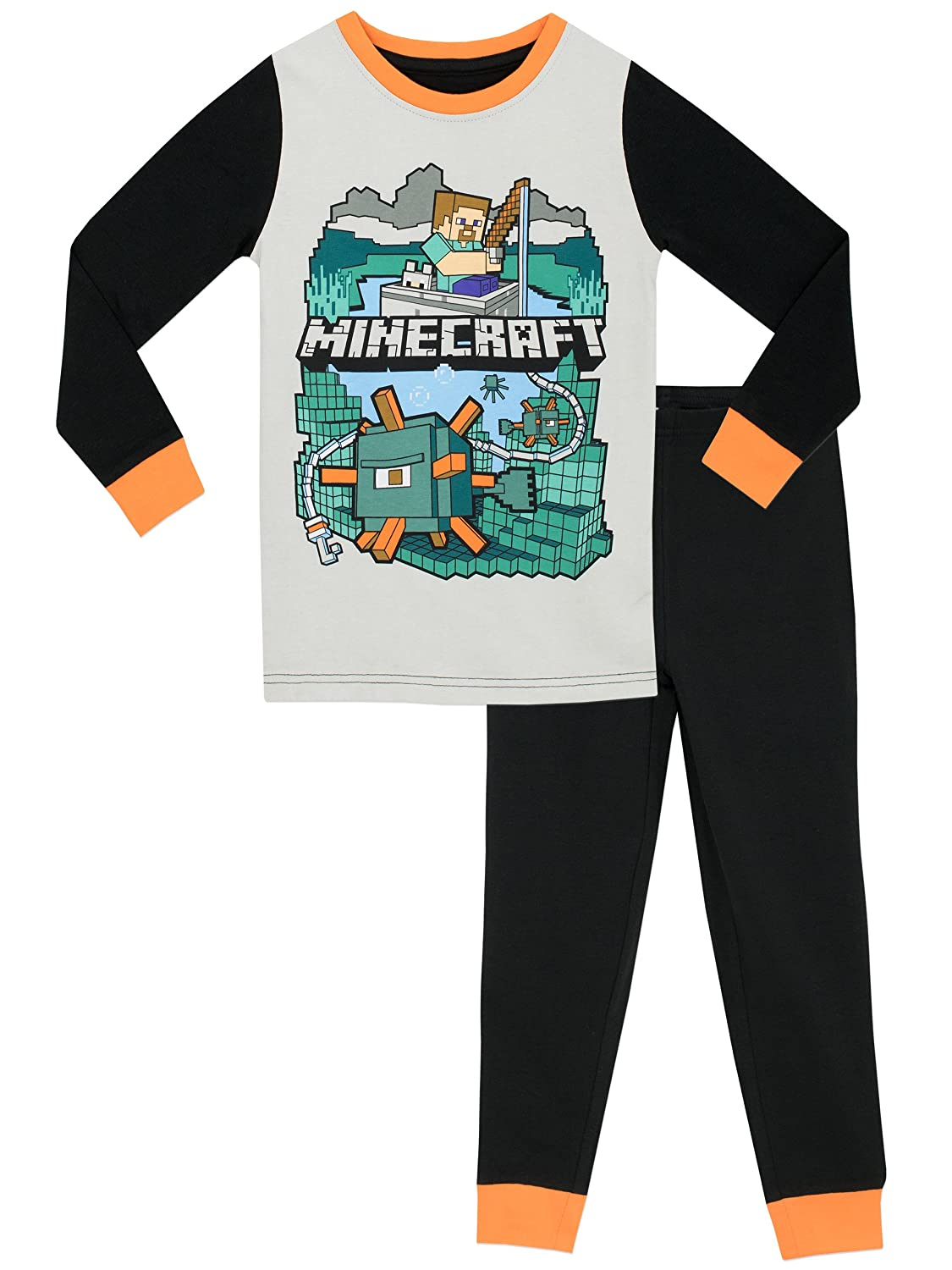 Minecraft Boys Pyjamas - Snuggle Fit - Ages 5 to 12 Years