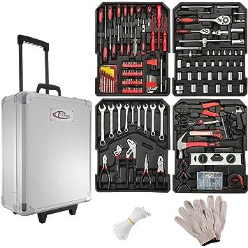 Tectake 599 Teiliger Werkzeugkoffer Mit Werkzeug Bestuckt