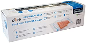 Oliso Pro VAC-SNAP Bags for Oliso Vacuum Sealers, Large, 1 Gallon, 10 Bags