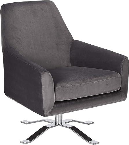 Christopher Knight Home Aegis Grey New Velvet Swivel Club Chair