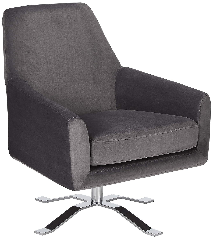 Astounding Christopher Knight Home Aegis Grey New Velvet Swivel Club Chair Uwap Interior Chair Design Uwaporg