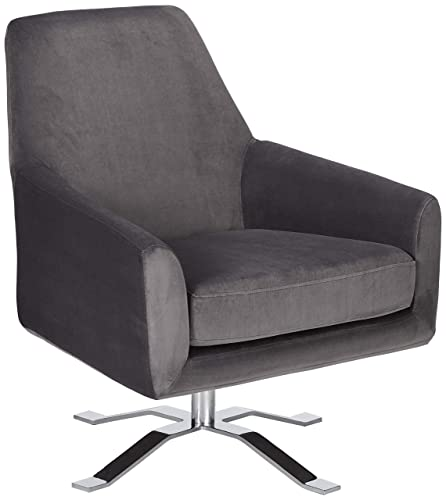 Christopher Knight Home Aegis Grey New Velvet Swivel Club Chair