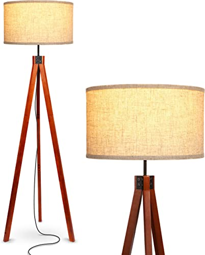 Brightech Eden Tripod LED Floor Lamp Mid Century Dimmable Modern Light