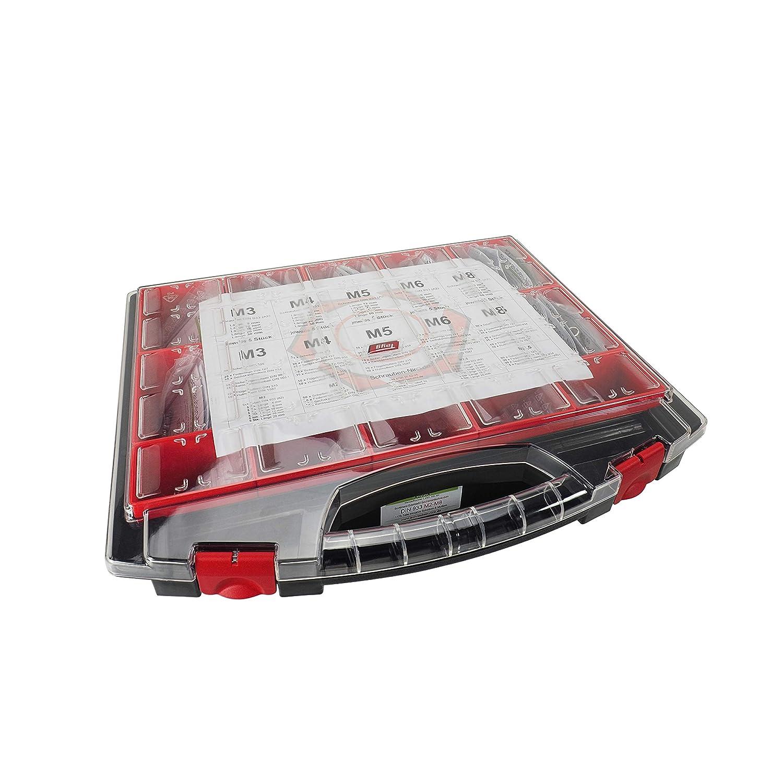 Sortiment 1175 tlg 83 versch stabiler Koffer Sorten einzeln in T/üten Zylinderschrauben DIN 912 Scheiben M8 Muttern M2 f/ür jede Situation die richtige Schraube Edelstahl A2 V2A VA 15 Eins/ätze