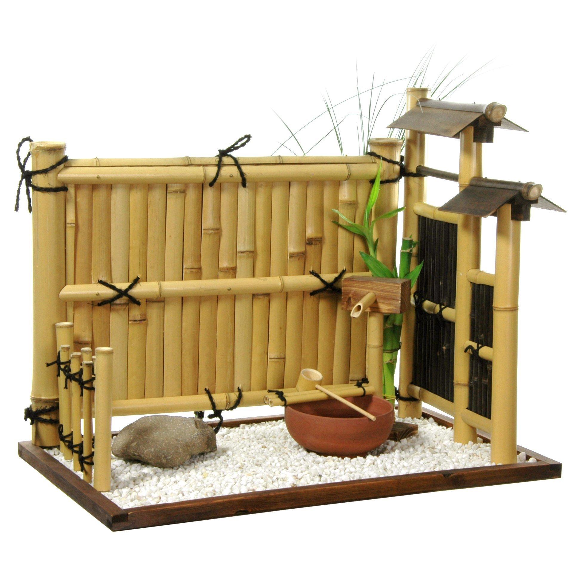 Oriental Furniture Zen Bamboo Mini Rock Garden