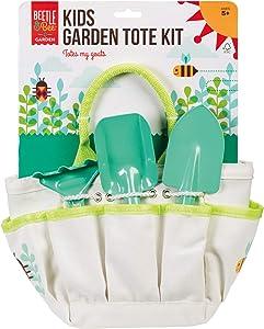 Toysmith Beetle & Bee Kids Garden Tote Kit, Light Blue