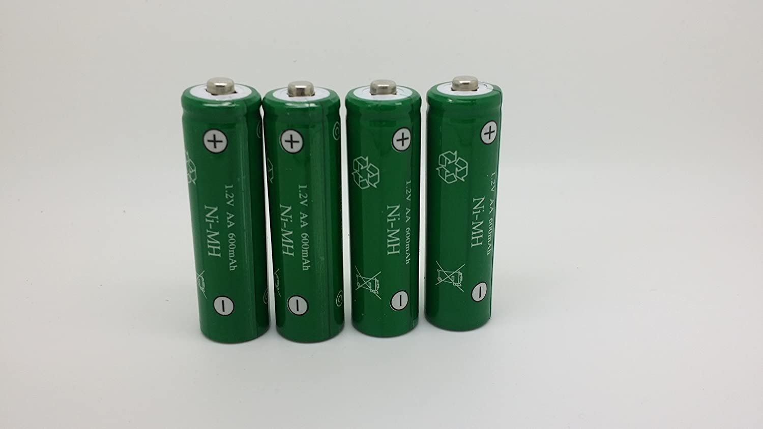 4 pieces AA 600mAh Ni-Mh Rechargeable Battery Garden Solar Landscape Path Lights can replace 300mAh NiCd AA, 600mAh NiCd, or any 300//600Ni-Mh cells with 100/% longer running time