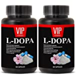 Natural L-Dopa (99% Extract) 350mg - Mucuna Pruriens Extract Formula (2 bottles 120 capsules)