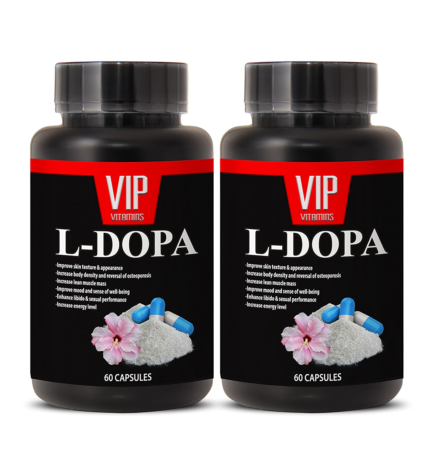 Amazon.com: Natural L-Dopa (99% Extract) 350mg - Mucuna Pruriens Extract Formula (2 bottles 120 capsules): Health & Personal Care