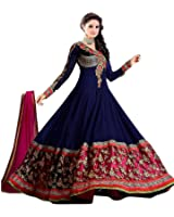 Rangrasiya Women's Gown Latest Party Wear Designer Georgette and Net Embroidery Semi Stitched Free Size Salwar Suit Dress Material Available On Sale