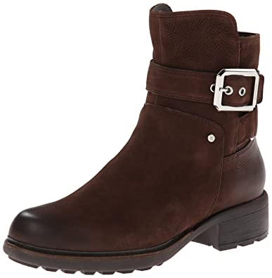 Rockport Womens Boots First St Moto Bootie Ebano Burnished