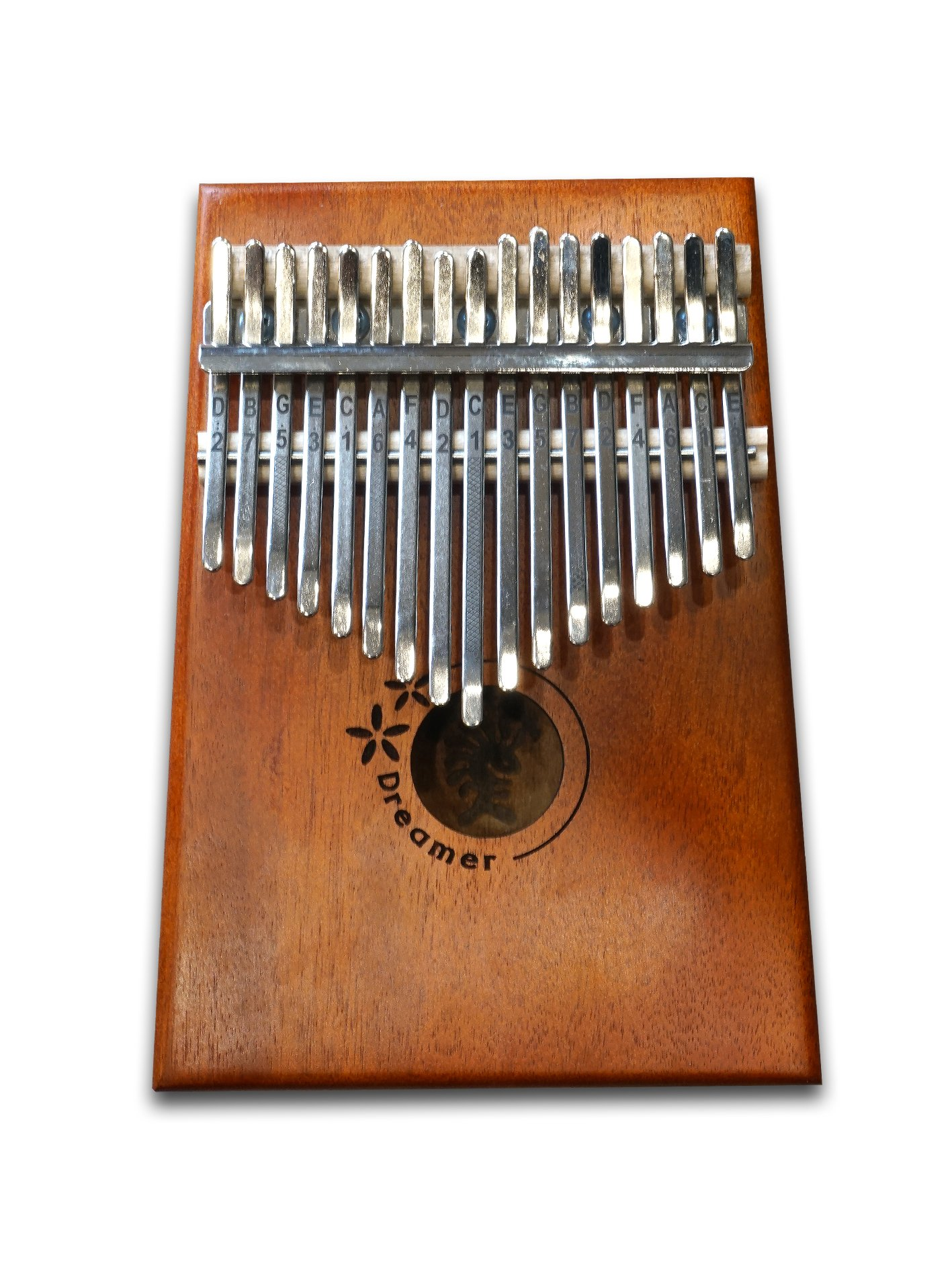 17-Keys Kalimba Thumb Piano, Koa wood Body, Metal keys by DREAMER