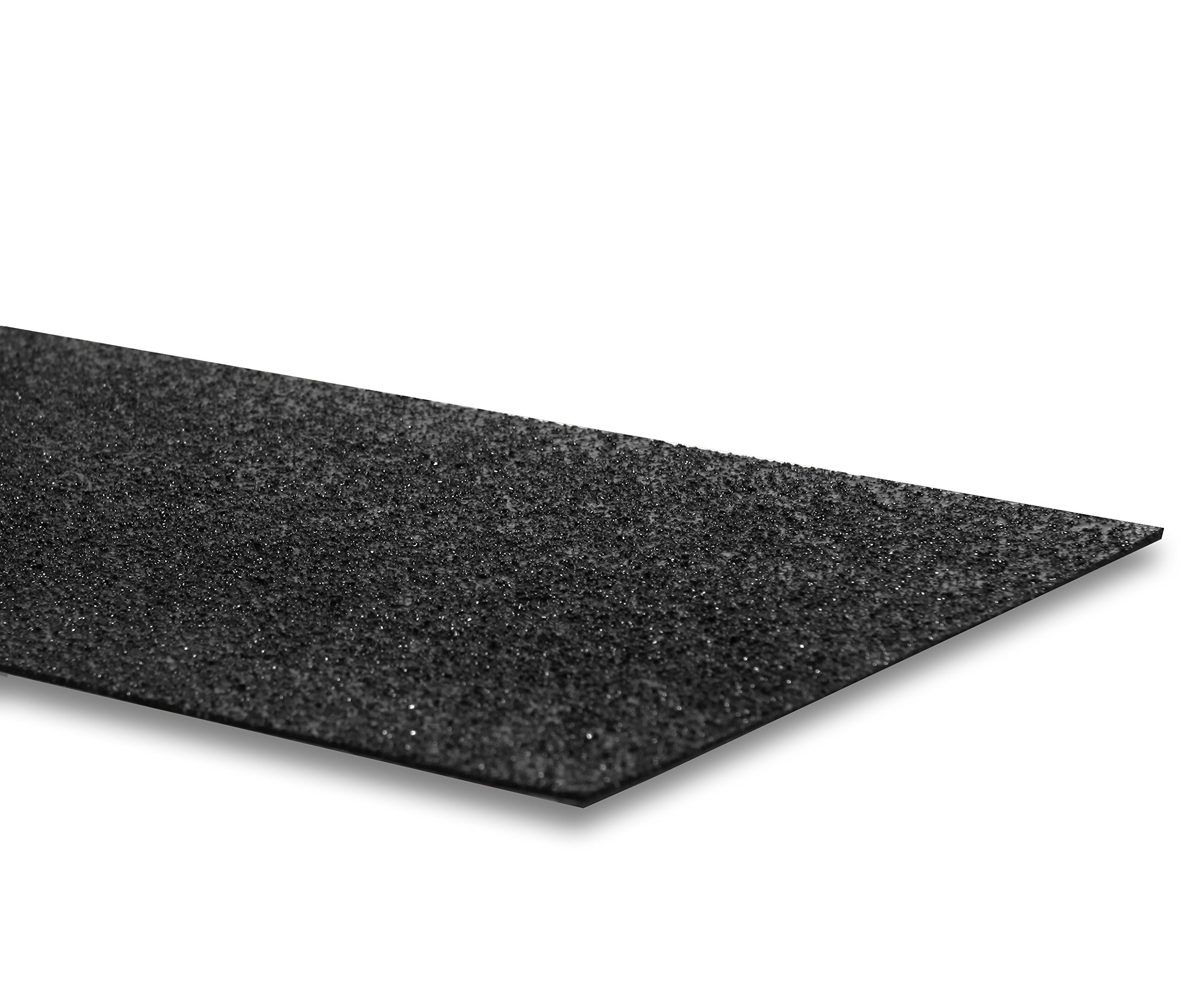 LavaGrip by GripAll.  Black aggregate anti-slip product. 12'' x 48''