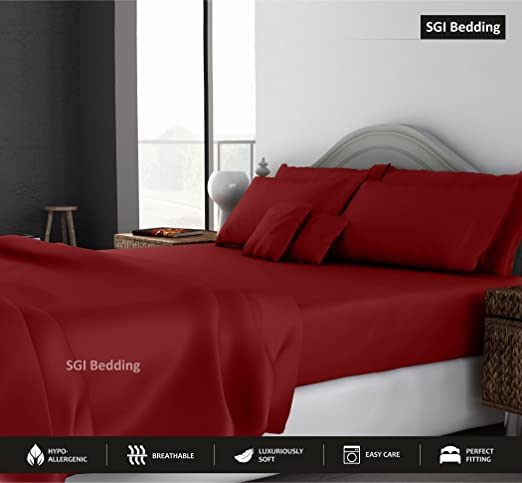 Burgundy Solid Luxury Bedding Collection 1000 TC 100/%Egyptian Cotton All US Size